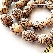 Материалы для творчества handmade. Livemaster - original item Beads Spiral carving Salvag palm tree seeds. Handmade.