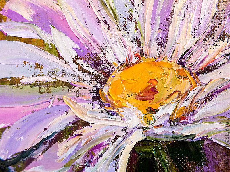 """Multicolor Francoise Nielly Portraits Handmade Oil: Painting Daisies """"dreams Of Summer"""" (oil On Canvas)"""