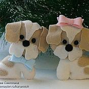 Куклы и игрушки ручной работы. Ярмарка Мастеров - ручная работа Собачка из фетра. Handmade.