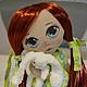 Куклы тыквоголовки ручной работы. Рыжулька. AliyaVesna. Интернет-магазин Ярмарка Мастеров. Рыжая девочка, кукла, doll, кукла текстильная