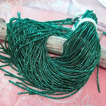 Материалы для творчества ручной работы. Ярмарка Мастеров - ручная работа Трунцал ОПТ 50 грамм 1.5 мм цвет изумрудный зелёный Индия. Handmade.