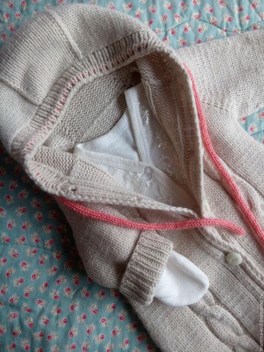 Одежда ручной работы. Ярмарка Мастеров - ручная работа. Купить Комбинезон с носочками для новорожденных: меринос+кашемир. Handmade. Детский комбинезон