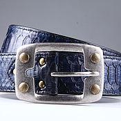handmade. Livemaster - original item Wide Python leather belt, 4,3 cm width IMP3111VC. Handmade.
