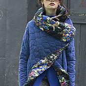 Одежда ручной работы. Ярмарка Мастеров - ручная работа Пальто СOZY QUILTED BLUE FLOWERS. Handmade.
