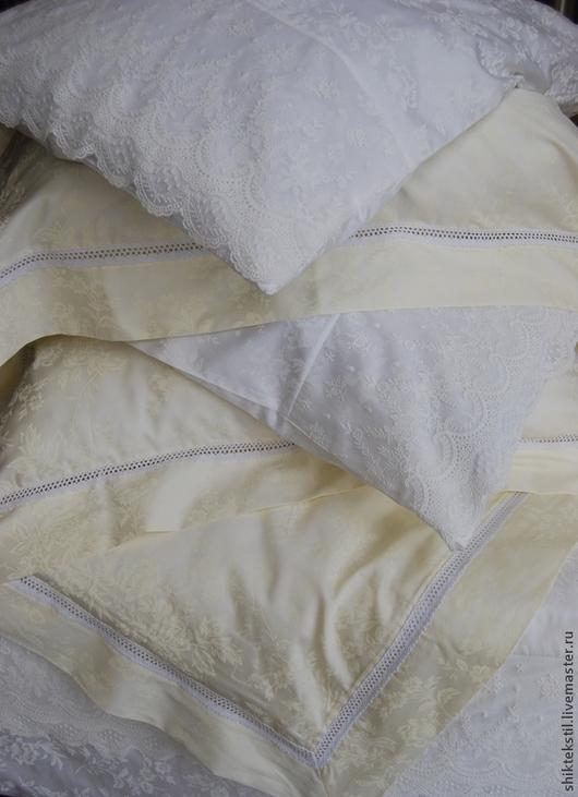 Подарки на свадьбу ручной работы. Ярмарка Мастеров - ручная работа. Купить Подарок на свадьбу Комплекты постельного белья из сатина с кружевом. Handmade.