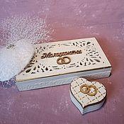 """Шкатулки для колец ручной работы. Ярмарка Мастеров - ручная работа Купюрница """"Нежность"""" , шкатулочка для колец. Handmade."""
