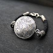 Украшения handmade. Livemaster - original item Silver bracelet with engraving. Handmade.