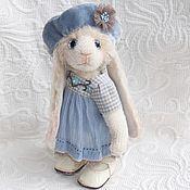 """Куклы и игрушки ручной работы. Ярмарка Мастеров - ручная работа Зайка в голубом берете """"Милачка"""". Handmade."""