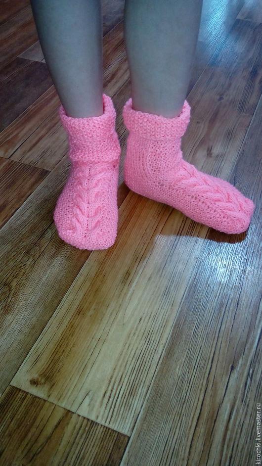 Детская обувь ручной работы. Ярмарка Мастеров - ручная работа. Купить Носочки с косой. Handmade. Комбинированный, носки ручной работы