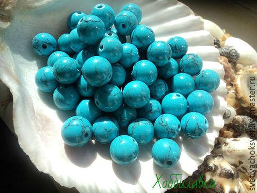 Бирюза голубая  глянцевая (прессованная)  Цвет тонированный
