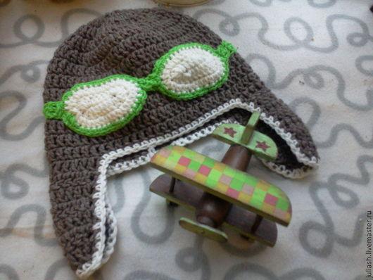 """Шапки ручной работы. Ярмарка Мастеров - ручная работа. Купить Шапка-шлем """"Первым делом самолеты"""". Handmade. Бежевый"""