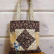 Сумки и аксессуары ручной работы. Ярмарка Мастеров - ручная работа Текстильная сумка, бежево коричневая сумка, сумка в пасторальном стиле. Handmade.