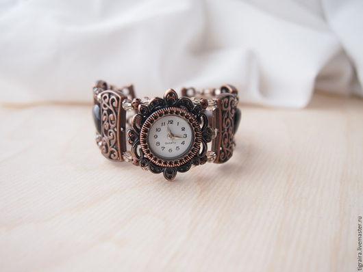 """Часы ручной работы. Ярмарка Мастеров - ручная работа. Купить """"Кофейное настроение"""" часы наручные, женские. Handmade. Коричневый"""