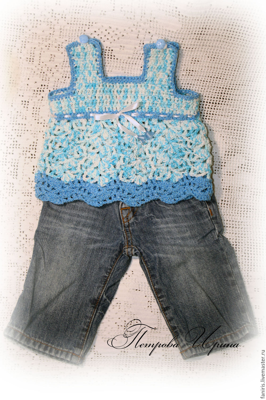 Одежда для девочек, ручной работы. Ярмарка Мастеров - ручная работа. Купить Туника для малышки. Handmade. Для детей, туника, для новорожденных