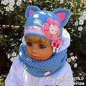 """Работы для детей, ручной работы. Ярмарка Мастеров - ручная работа """"Котёнок""""-комплект (шапочка+снуд). Handmade."""