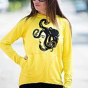 handmade. Livemaster - original item Zip-up sweatshirt with 2 pockets from-TP0216W2. Handmade.