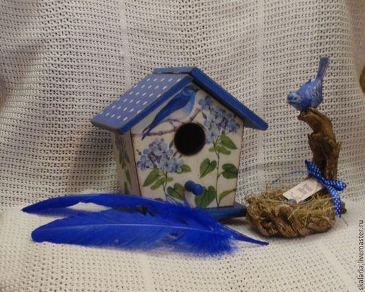 Шкатулки ручной работы. Ярмарка Мастеров - ручная работа. Купить Дом Синей птицы. Handmade. Синий, горошек