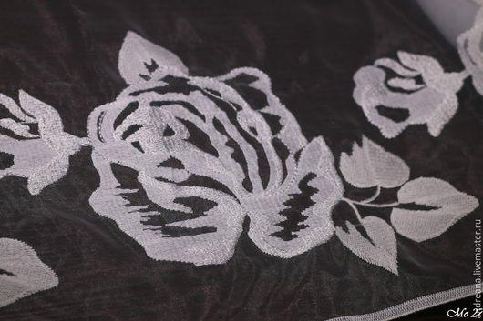 Шитье ручной работы. Ярмарка Мастеров - ручная работа. Купить Вышитая органза цветы розы Monnalisa. Handmade. Monnalisa