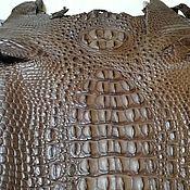 Материалы для творчества handmade. Livemaster - original item Crocodile skin, haberdashery dressing, back part, 38 cm.. Handmade.