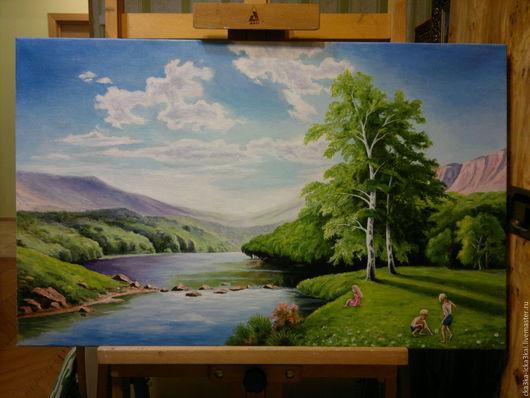 На заказ для Анастасии. картина выполнена на холсте размером 80х50 масляными красками. ручная работа - холст, масло.