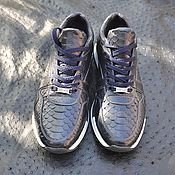 Обувь ручной работы handmade. Livemaster - original item Python genuine leather sneakers, handmade, size 39.. Handmade.