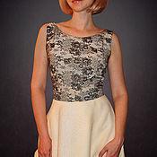 Одежда ручной работы. Ярмарка Мастеров - ручная работа Шелковое платье с кружевным лифом. Handmade.