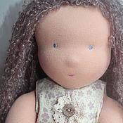 Материалы для творчества handmade. Livemaster - original item Blank-pattern classic doll knit White angel. Handmade.