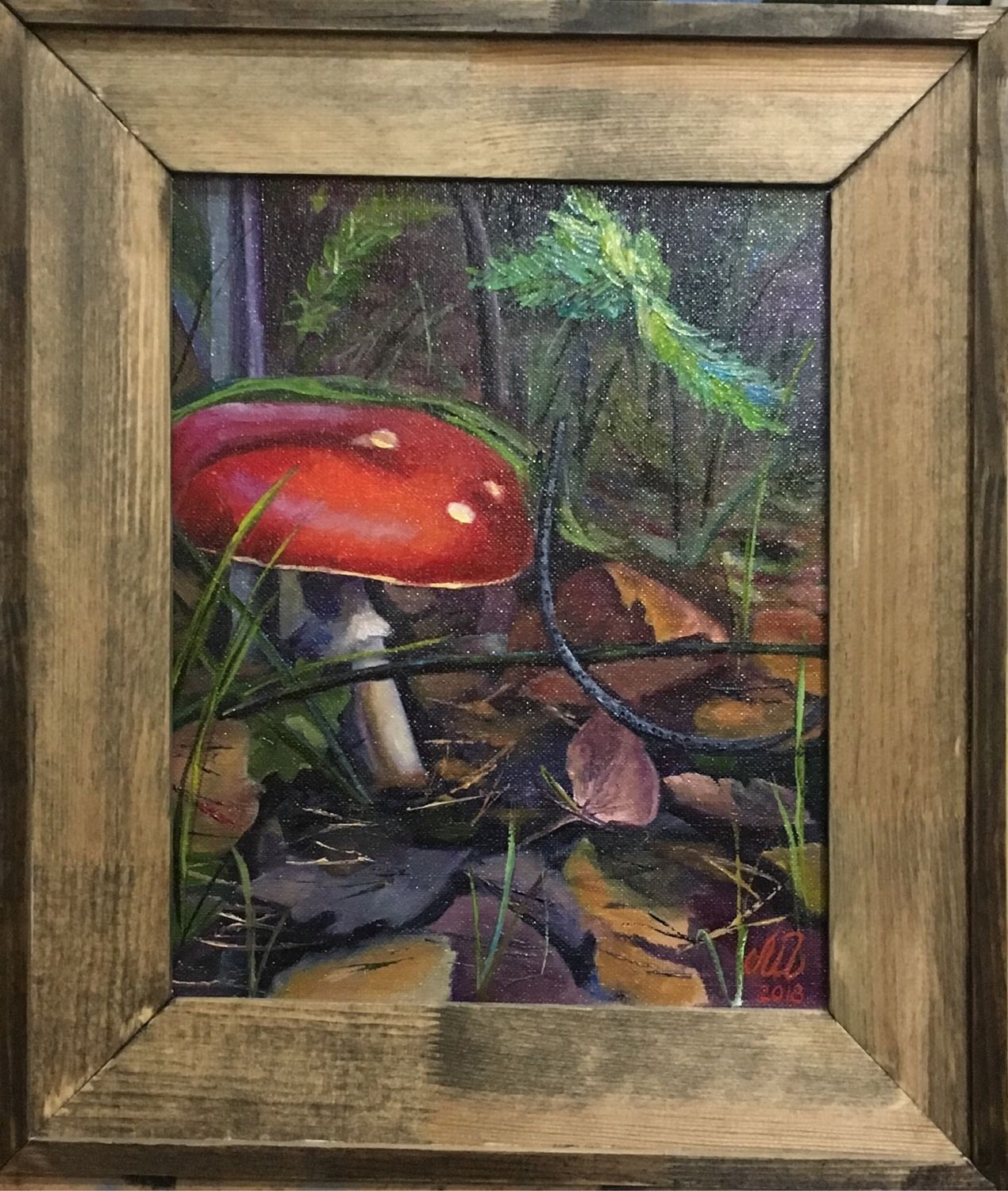 Painting with mushrooms 'Forest beauty' 30h24, Pictures, Mytishchi,  Фото №1
