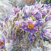 Картины и панно handmade. Livemaster - original item Watercolour painting Snowdrops. Handmade.