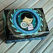 "Для дома и интерьера handmade. Livemaster - original item Pine box ""Song of the sea"" 18x24x12sm. Handmade."