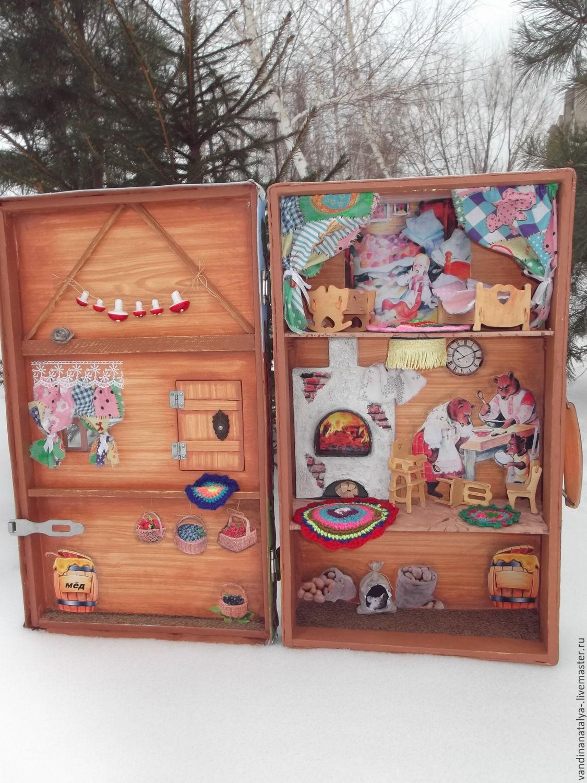 Кукольный дом ручной работы. Ярмарка Мастеров - ручная работа. Купить  Чемодан- избушка