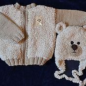 """Работы для детей, ручной работы. Ярмарка Мастеров - ручная работа Кофта """"Медвежонок"""". Handmade."""