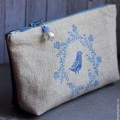 Сумки и аксессуары handmade. Livemaster - original item Cosmetic Bag Bird. Handmade.