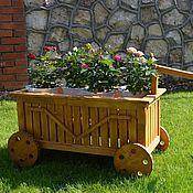 Для дома и интерьера ручной работы. Ярмарка Мастеров - ручная работа Декоративная телега малая. Handmade.