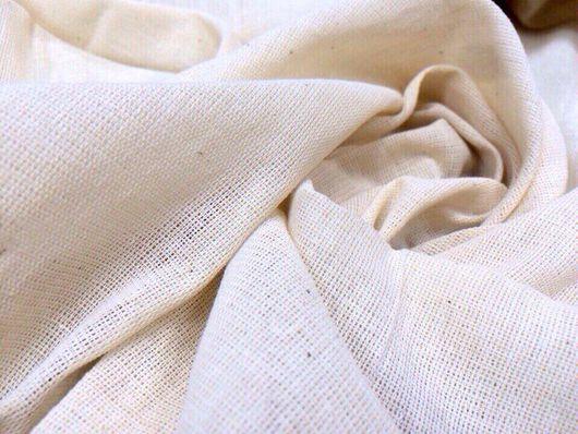Шитье ручной работы. Ярмарка Мастеров - ручная работа. Купить Суровая небеленая бязь для макетов, одежды, декора.. Handmade. Футер