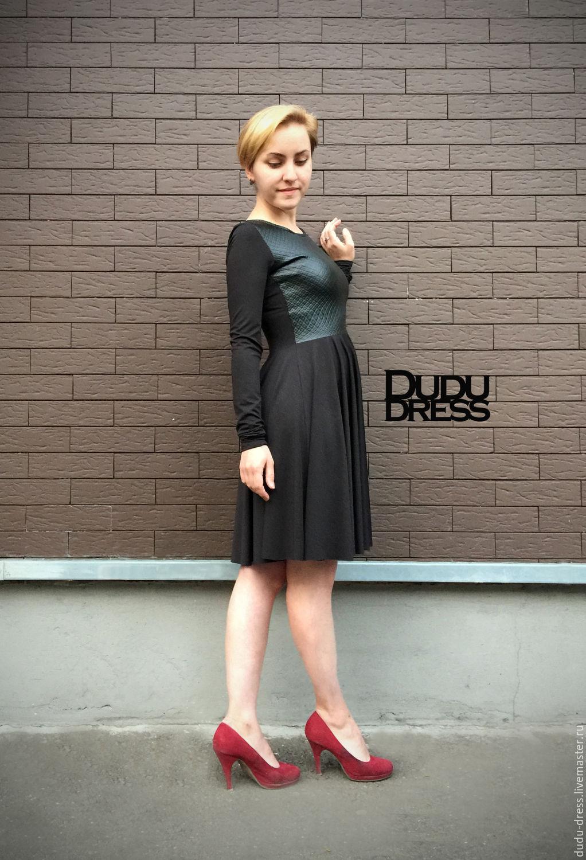 Черное короткое платье низ солнце