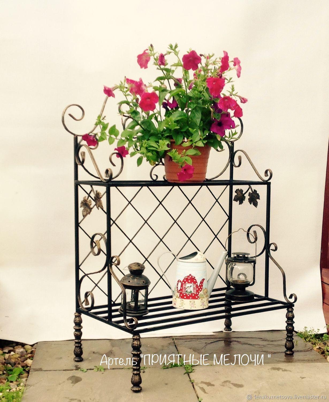 Этажерка для цветов кованая, Экстерьерные, Лобня, Фото №1