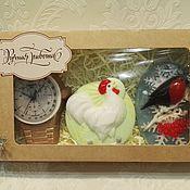 Косметика ручной работы. Ярмарка Мастеров - ручная работа набор мыла часы+петушок+снегирь. Handmade.