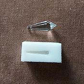 Материалы для творчества ручной работы. Ярмарка Мастеров - ручная работа Силиконовая форма Кристалла 37х14мм на грани. Handmade.