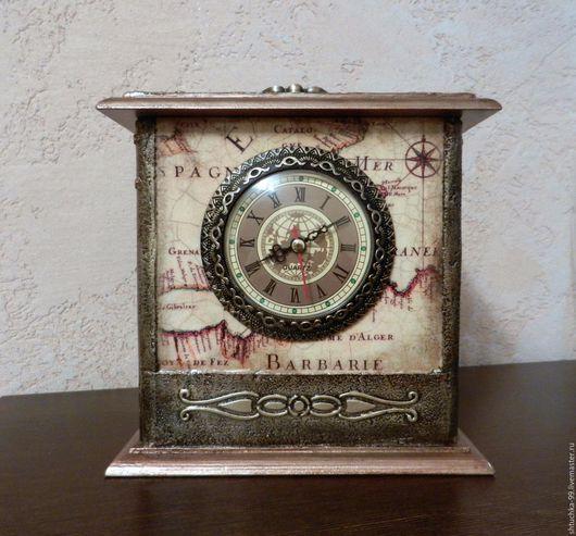 Часы для дома ручной работы. Ярмарка Мастеров - ручная работа. Купить Часы настольные. Handmade. Комбинированный, фанерная заготовка