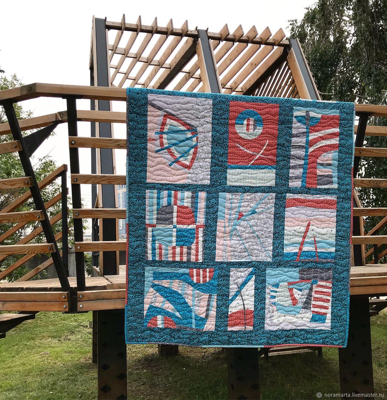 'Postcards from travel' Patchwork quilt, Blanket, Krasnoyarsk,  Фото №1