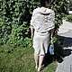 The dress is sleeveless with a shawl made of boiled flax. Sundresses. Reelika (reelika44). My Livemaster. Фото №4