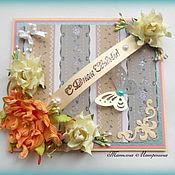Свадебный салон ручной работы. Ярмарка Мастеров - ручная работа Свадебная открытка ручной работы. Handmade.