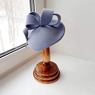 Аксессуары ручной работы. Ярмарка Мастеров - ручная работа Шляпка Nataly в стиле Kate Middlton. Цвет серо-голубой. Handmade.