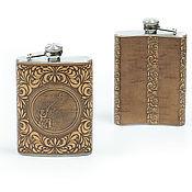 Сувениры и подарки handmade. Livemaster - original item Flask birch bark