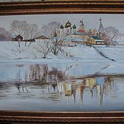 Картины и панно handmade. Livemaster - original item Winter in Kolomna. 50h70cm. Handmade.
