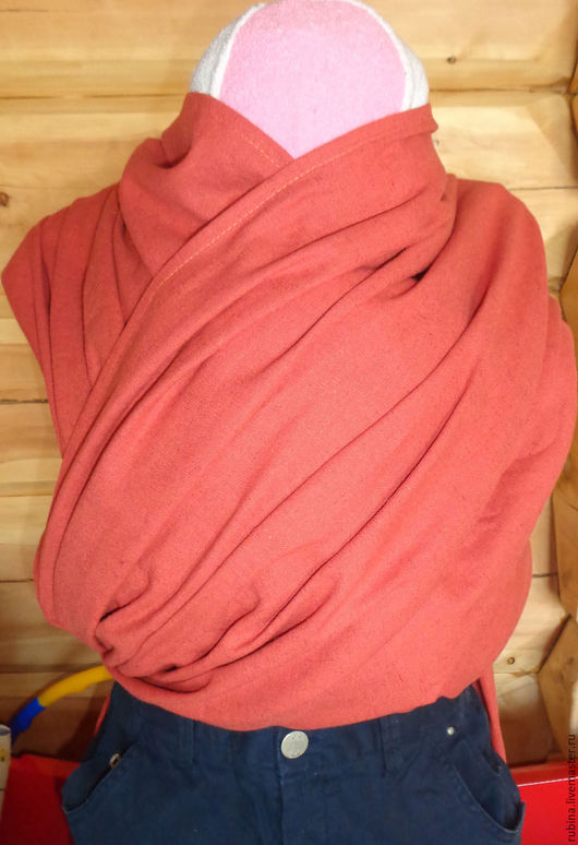 Слинг шарф из хлопка-льна за 1200р