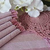 Для дома и интерьера handmade. Livemaster - original item Set of homespun table napkins pink set. Handmade.