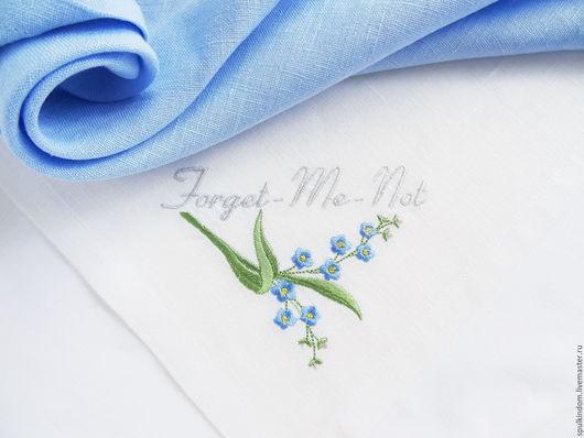 Салфетка с вышивкой  `Не забывай меня` `Шпулькин дом` мастерская вышивки