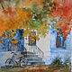 Пейзаж ручной работы. Ярмарка Мастеров - ручная работа. Купить Осень в городе. Handmade. Разноцветный, осень, бумага